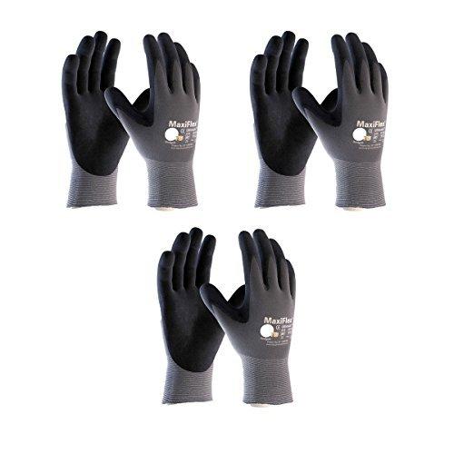 3 Pack 34-874 XXL MaxiFlex Ultimate Nitrile Grip Work Gloves Size XX-Large (3) by Maxiflex