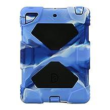 Ipad case,ACEGUARDER®Slim Military-Duty Case Rainproof Shockproof for Apple Ipad Mini 2/3[Camo-Black]