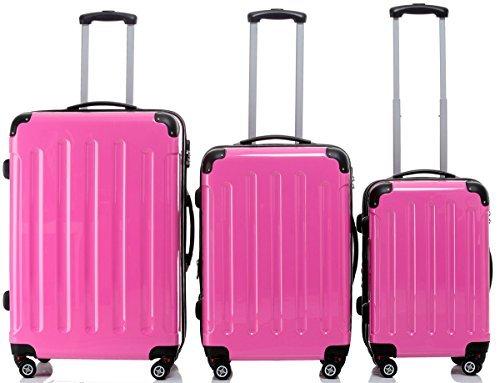 Beibye 2048-Juego de 3 maletas con ruedas