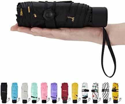 Fidus Upgraded Mini Travel Sun&Rain Windproof Umbrella - Lightweight Compact Portable Parasol Outdoor Umbrellas Men Women Kids