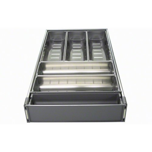Blum ZHI.533BI3A TANDEM ORGA-LINE Wide Drawer Cutlery Set for 21'' Wide Cabinets, Nickel