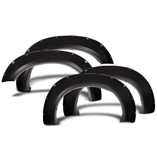 Compatible With 11-16 Ford F250 F350 Superduty Pocket Rivet Style Smooth PP Fender Flares