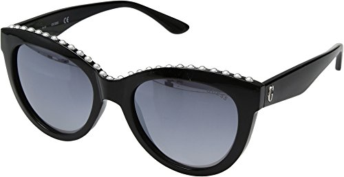 GUESS Women's GF6068 Shiny Black/Gradient Smoke One Size ()
