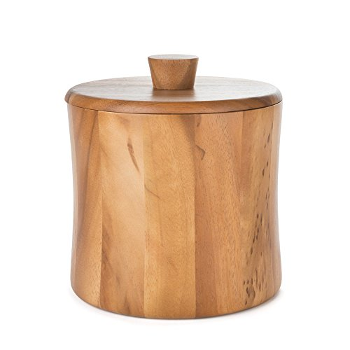(Natural Teak Wood Ice Bucket - 3 Quarts)