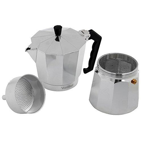 VonShef 9 Cup Italian Espresso Coffee Maker Stove Top Moka Macchinetta