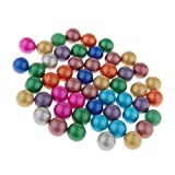 D DOLITY 90 Pieces of 16mm Colored Glass Marbles, Kids Traditional Ball Game Toy Vase & Fish Tank Decoration #B