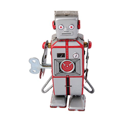 (MagiDeal Wind Up Robot MS502A Tin Toy)