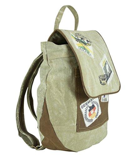 Sunsa Damen Herren Vintage Tasche Rucksack Schultertasche Ranzen aus Canvas / Segeltuch