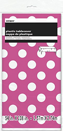 Polka Dot Plastic Tablecloth Pink product image