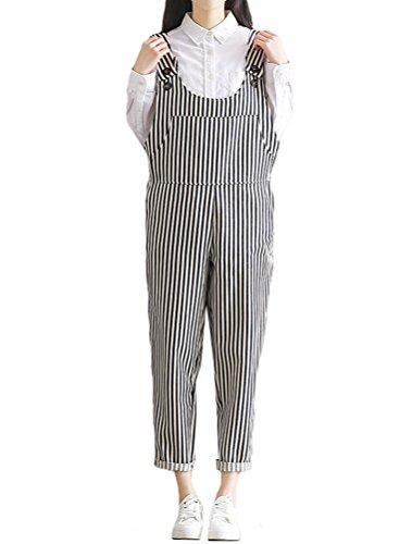 MatchLife Femmes Casual Jeans Salopette Pantalon Style9-rayures