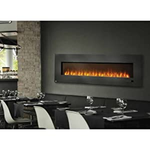 Napoleon Efl72h 72 Slimline Wall Mount Electric Fireplace With 5000 Btus 1500