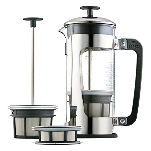 Espro P5 Glass Press, 18 oz, Stainless (Espro French Coffee Maker 18 Oz compare prices)