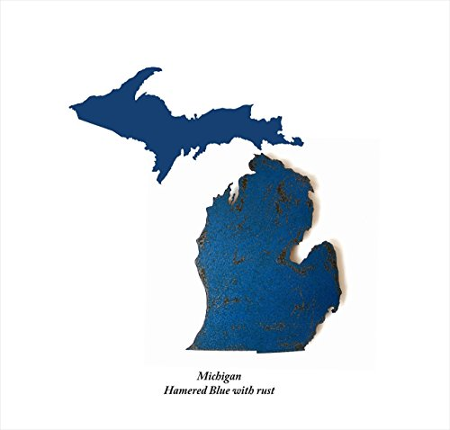 263-tall-michigan-with-upper-peninsula-state-map-metal-wall-art-handmade-choose-your-patina-color-wi