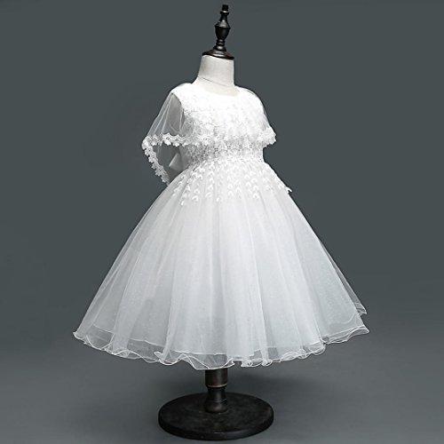 Pour Filles Princesse Robe Partie 7 Ansfille Concours Bal Fille ❤️robe Fleur De Rat Tulle Amlaiworld Mariage 1 Blanc EqOw7gF