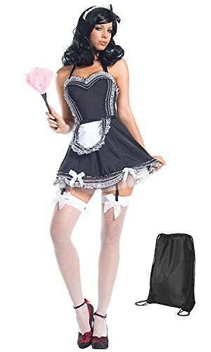 Women's Hands On French Maid Costume (Be Wicked) - Funtober