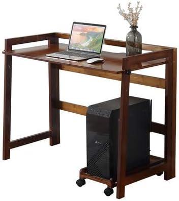 Dimensioni : L-84CM Computer MAZHONG Tavolo da Studio Pieghevole per scrivania da scrivania con tavolino Pieghevole in Legno massello