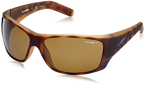 Arnette Men's Heist 2.0 0AN4215 Polarized Rectangular Sunglasses, FUZZY HAVANA, 66 - Arnette Sunglasses