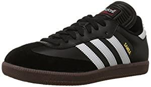 adidas Men's Samba Classic Soccer Shoe,Black/Running White,13.5 M US