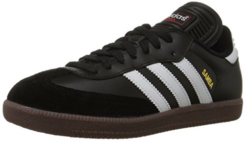 adidas Men's Samba Classic Soccer Shoe,Black/Running White,10.5 M US