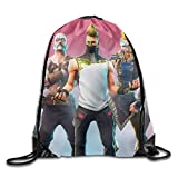 MCWO GRAY Men Women Brave for-tnite Battle Gym Drawstring Backpacks Shoulder Bags Sport Sack Backpack for Home Travel Exercise
