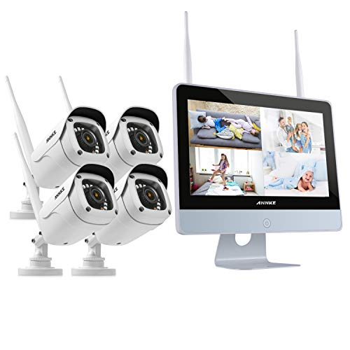 ANNKE 4CH 1080P FHD WiFi NVR Video Surveillance System with...