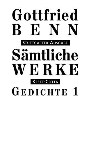 Sämtliche Werke. Stuttgarter Ausgabe.: Sämtliche Werke Bd. 1: Gedichte I