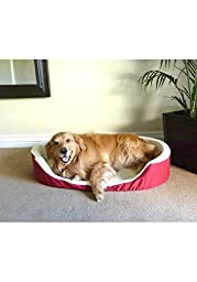 36x24 Red Lounger Pet Dog Bed By Majestic Pet Products Large