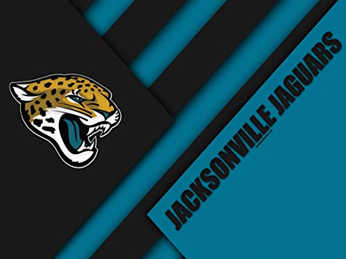 DIY 5D Diamond Painting Kits for Adults 20x28 lnch,Jacksonville Jaguars Full Drill Diamond Painting Crystal Diamond Arts Crafts for Home Wall Decor,NFL Team -