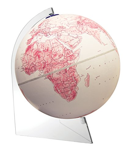 (Replogle Mother's Day Raised Relief Globe with Velvety Finish and Clear Acrylic Base World Globe(12