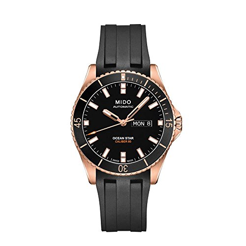 Mido Ocean Star Captain V M026.430.37.051.00 Black / Black Rubber Analog Automatic Men's Watch