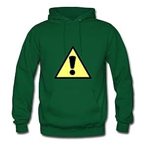 Warning X-large Creative Women Cotton Green Sweatshirts