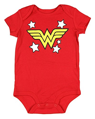 Wonder Woman Infant baby romper creeper,Red,12 Months  -