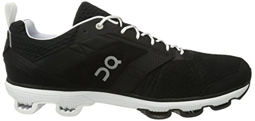On Running Herren Cloudcruiser Laufschuhe, Schwarz (Black/White), 47.5 EU
