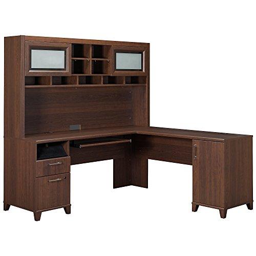 (Bush Furniture Achieve L-Desk with Hutch)
