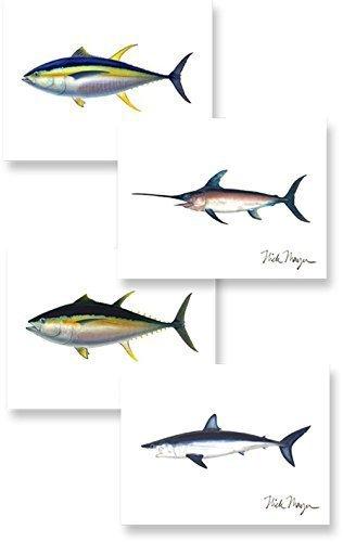 Atlantic Offshore Slam Boxed Notecard (Atlantic Tuna)