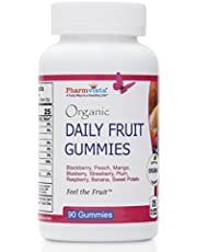 Daily Fruit Gummies - Healthy and Tasty Snack for Kids and Adults, Gluten Free, Non-GMO, 90 Gummies, 45 Day Supply, Made in USA