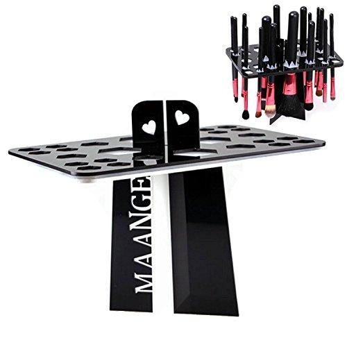 BESTOPE® складной сушки на воздухе кисти для макияжа Организационный башни вала в стойку держатель косметический инструмент (D-черный)