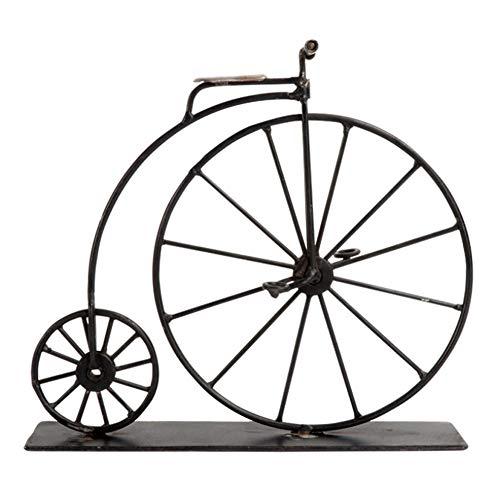 Photo DAN&LAN Retro High Wheel Bicycle Vintage Bike Penny Farthing Model Art Decoration Crafts for Home Living Room Bedroom