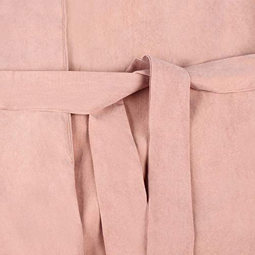 Collar Notch Coat Windbreaker Pure Jacket Belted Long Lazzoy Outerwear Pink Colour Womens Parka Sleeve Adjuestive nT8x0B7x