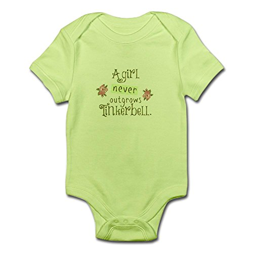 er Outgrows Tinkerbell Body Suit - Cute Infant Bodysuit Baby Romper (Tinkerbell Snap)