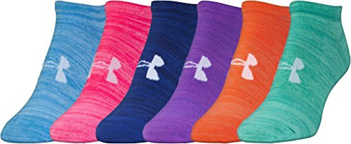 Under Armour Women's 6 Pack Essential Twist No Show Socks