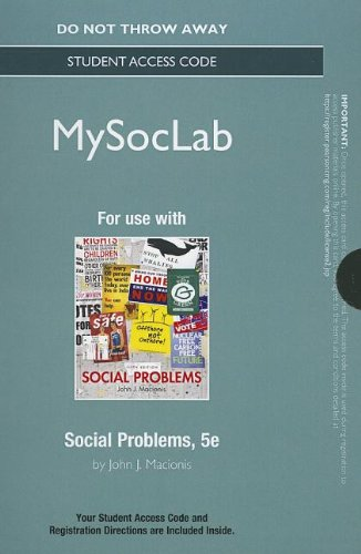 Social Problems Mysoclab Standalone Access Card
