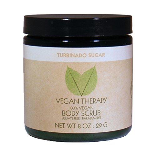 Vegan Therapy Turbinado Sugar Body Scrub, 8.29 Ounce (Sugar Health Turbinado)