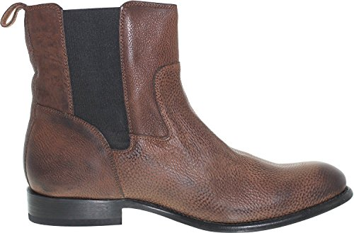 Jd Fisk Mens Dortmund Ankle-high Stivale In Pelle Marrone