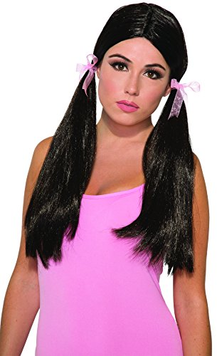 Forum Novelties Party Long Pigtail Wig, Black -