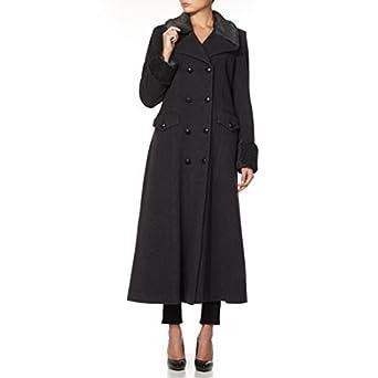 meilleures baskets 7b62e 5456f La Crème - Femmes laine et cachemire Jacket Femmes RUSSE style militaire  bord fausse fourrure long manteau hiver