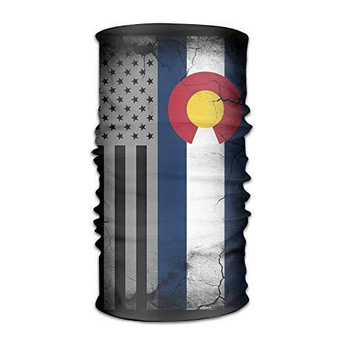 USA Colorado State Flag Multifunctional Magic Headwear 12-in-1 Men&Women Tube Scarf Facemask Headbands Neck Gaiter Bandana Balaclava Helmet for Outdoor Running Yoga Work -