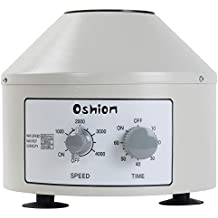 Oshion Electric Centrifuge Machine for Laboratory Medical Practice,Timer(0-60min) and Speed(0-4000rpm) Control Capacity 20 ml x 6 Tubes,110V Low Speed Portable Desktop Benchtop Centrifuge