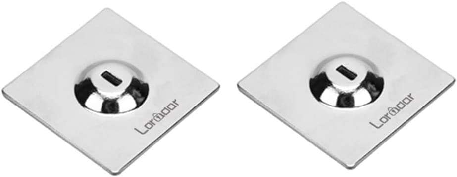 Loradar Adhesive Security Plate with Slot for Cables to Lock Down Laptops, Tablets, Monitors and Other Devices (2Pack Chrome)