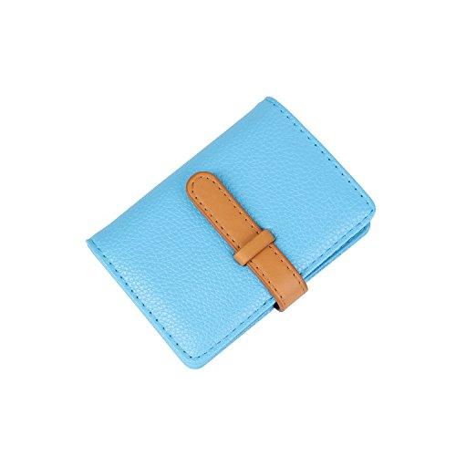 10 Crédit 2 Fentes Porte 26 Couleurs Femme Homme De Bleu Cartes marron Cuir IBwBrgfx